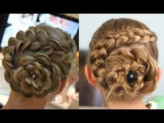 How to curl your hair Dutch Flower Braid Updos Cute Girls Hairstyles step by step DIY tutorial instructions / How To Instructions