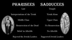 The Pharisees and the Sadducees are two important groups of Jewish leaders in the New Testament. Most of the Pharisees and Sadducees not only rejected Jesus . Revelation Study, Resurrection Of The Dead, Book Of Matthew, Bible Words, Daily Bible, Torah, Bible Stories, Jesus Quotes, New Testament