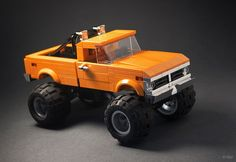"""The """"monster truck"""" outfit is just a quick disguise, meant to hide the identity of the car for now. When I'll be done with it, this won't be just ANY Ford anymore. Lego Technic Truck, Lego Truck, Lego Taxi, Legos, Lego Pictures, Lego Speed Champions, Lego Mechs, Lego Military, Lego Room"""