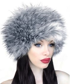 Look at this Imposter Silver Fox Faux Fur Hat on #zulily today!