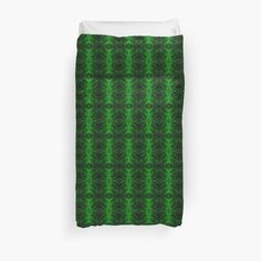 'Chic Abstract Emerald Green Pattern' Duvet Cover by HavenDesign Duvet Cover Design, College Dorm Bedding, Green Pattern, Duvet Insert, Sell Your Art, Duvet Covers, Original Art, Art Prints, Abstract
