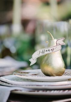 Leave a lasting impression on your guests when you personalize their place setting. For more fall tablescape inspiration, click here.