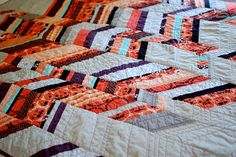 herringbone quilt tutorial by knotty bits