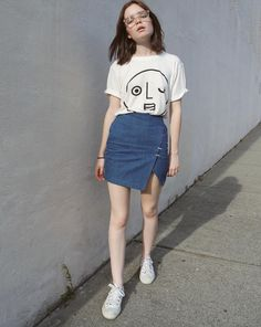 Cool Summer Outfits, Summer Outfits Women, Spring Outfits, Korean Summer Outfits, Spring Dresses, Style Outfits, Edgy Outfits, Fashion Outfits, Skirt Outfits