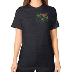 Robin Unisex T-Shirt (on woman)