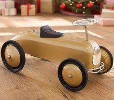 Gold Racecar Ride On | Pottery Barn Kids