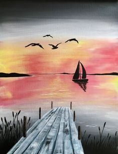 Join us for a Paint Nite event Sun Feb 18 2018 at 375 Fore Street Portland ME Purchase your tickets online to reserve a fun night out Watercolor Landscape, Landscape Paintings, Watercolor Paintings, Beginner Painting, Painting & Drawing, Amazing Art, Art Photography, Canvas Art, Tickets Online