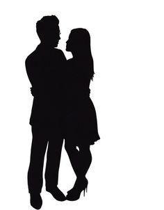 Custom Couple Silhouette Portrait by jennyleefowler on Etsy, $50.00
