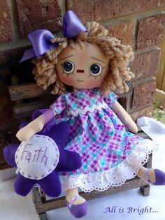 Raggedy Doll  Faith by Allisbright on Etsy, $34.00