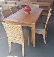 Stof Lar Decorações - Móveis em Madeira de Demolição : Mesa Retangular com cadeiras Amalf