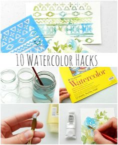 Love using watercolor on your scrapbook projects? Here are 10 Watercolor Hacks to make your painting easier! You'll learn how to condition your brushes, get started with a dry palette, choose…