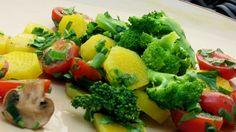 Salada de brócolis com mandioquinha