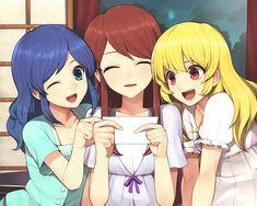 aikatsu anime girls kawaii cute ran aoi ichigo