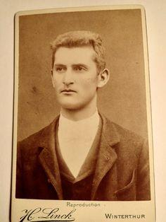 Herr Bürgi.  Photostudio H. Linck Winterthur 1894