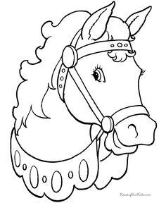 La Chachipedia: Dibujos de caballos para colorear