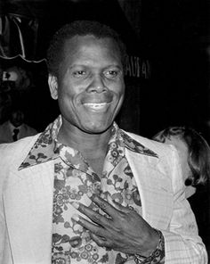 """""""Sidney Poitier, Palm Restaurant, West Hollywood, 1977"""" © Ron Galella / Staley-Wise Gallery New York"""