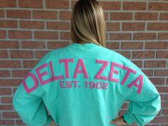Spirit Football Jersey - Delta Zeta @Rachel Dodge Sorority Outfits, Sorority Life, Spirit Jersey, Delta Zeta, Football, Dodge, Greek, College, Clothes