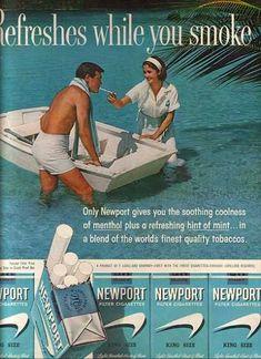 Newport Cigarette Ads | Tobacco/ Cigarette Ads of the 1960s