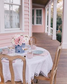 """9,361 Likes, 139 Comments - Julia Engel (Gal Meets Glam) (@juliahengel) on Instagram: """"Days when it's warm enough to set up a little dinner on the front porch #home #springtime…"""""""