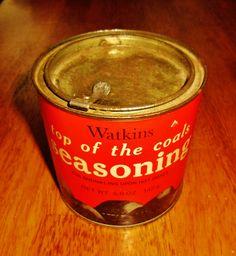 Watkins Top of the Coals Seasoning tin.