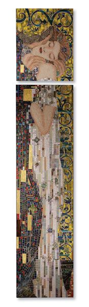 Gustav Klimt-inspired mozaic, by Christopher Guy