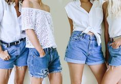 how to make denim shorts from old jeans Diy Shorts, Diy Jeans, Diy Clothes Jeans, Diy Clothes Hangers, Sewing Shorts, Diy Summer Clothes, Diy Clothes Refashion, Diy Clothes Videos, Diy Clothing