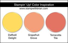Stampin Up! Color Inspiration - So Saffron, Flirty Flamingo, Blackberry Bliss Beautiful Color Combinations, Color Combos, Color Schemes, Stampin Up, Pineapple Punch, Love You To Pieces, Collor, Do It Yourself Home, Color Blending