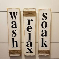 New Rustic Bathroom Signs - Wash, Relax, Soak - White - Farmhouse Wooden Signs Bathroom Decor. online - Stargreatshopping - New Rustic Bathroom Signs – Wash, Relax, Soak – White – Farmhouse Wooden Signs for Bathroom D -