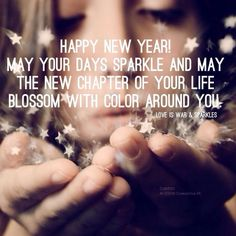 May the new chapter of your life sparkle