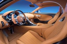 Luxury: The Chiron has been dubbed the 'world's most powerful, fastest, most luxurious and most exclusive production super sports car' to be built