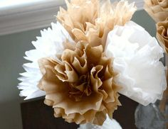 More coffee filter flowers.