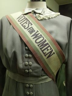 """Votes for Women"" Sash."