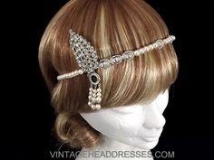 Great Gatsby Headpiece  Gatsby Headband  by VintageHeaddresses, £140.00