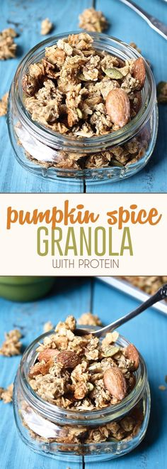 The BEST Pumpkin Spice Granola packed with nutritious ingredients and protein to keep you going all morning long.