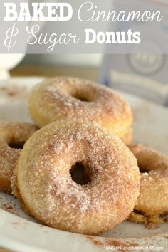 A sweet and tasty breakfast treat that you can fill good about feeding your kiddos. Baked and not fried, it's a yummy option for a lazy weekend morning at home to enjoy with everyone still in their PJ's. Cinnamon and Sugar Baked Donut Recipe. SunshineandHurricanes.com