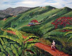 En El Campo A Caballo Print By Luis F Rodriguez