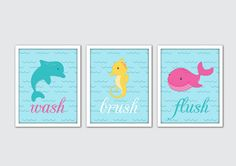 Sea Animals Art Print Set - perfect addition to your nursery decor! Frames not included.    / DETAILS  • Each print is 8x10 inches. If you would