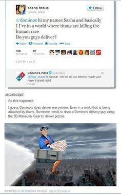 Attack on Titan - Domino's delivers LOL