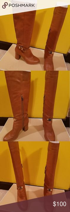 Michael Kors Knee High Boots Tan Michael Kors Leather Knee High Boots Michael Kors Shoes Over the Knee Boots
