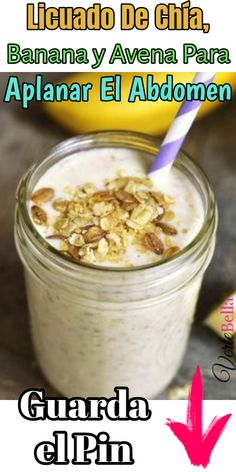Licuado de banana chia y abena Mason Jar Cookie Recipes, Mason Jar Cookies, Holiday Cookie Recipes, Fruit Drinks, Healthy Drinks, Healthy Recipes, Healthy Detox, Healthy Food, Hot Sauce Recipes