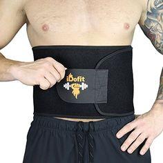 1b8ab4af46 iDofit Premium Adjustable Waist Trimmer Belt - Sauna Belt Weight Loss Band  Slimming Stomach Wrap Belly Fat Burner Sweat Tummy Wraps Abdominal Slimmer  Lumbar ...