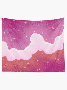 Lesbian Pride Flag Galaxy Tapestry
