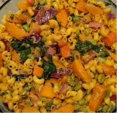Butternut squash and macaroni, a recipe from Gaia's Table, an upcoming SpiderHawk cookbook