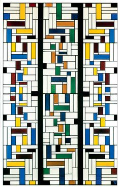 Theo Van Doesburg, Stained-Glass Composition IV, 1917