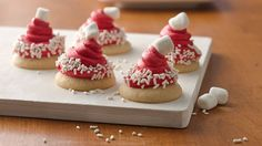 These Santa hats are impressively easy and sure to be a hit at your holiday party.