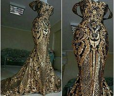 Luxury Sequinned mermaid Couture dress