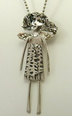 Angel Spruce - Up cycled sterling silver and PMC