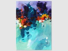 Abstract painting by Svetlansa #painting #abstract #svetlansa #homedecor #blue #purple #artwork #wallart #abstractart #turquoise