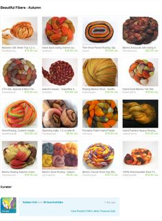 """Beautiful Fibers"" @Etsy treasury from HeartFelt Silks"