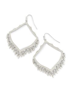 Lacy Drop Earrings in Silver - Kendra Scott Jewelry.